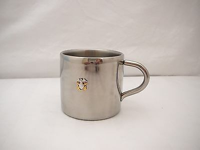 Cup Mug US Navy Officer's Insignia on Stainless Steel Coffee Cup Mug 5 Oz USN