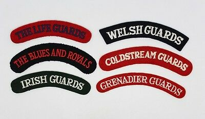 6 X British Army Guards Shoulder Titles #31