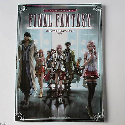FINAL FANTASY BEST OF EASY SOLO PIANO SCORE BOOK Japan RPG Game Music NEW