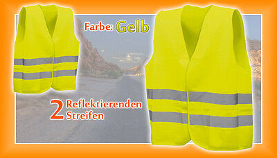 High Visibility Vest,accident Vest Yellow In Accordance With Din En 471 Size Xl