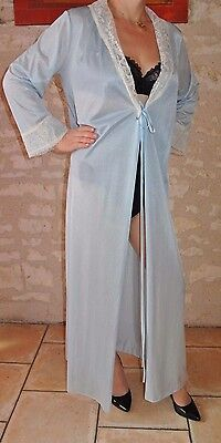 Peignoir Vintage Long Lingerie Grande Taille Nightwear Cd Blouse Sissy !52