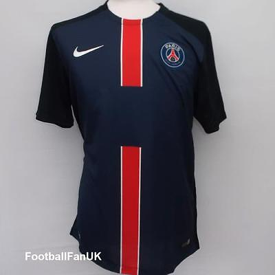 PSG Nike Unsponsored Home Shirt 2015/16 NEW M Jersey Maillot Paris St Germain