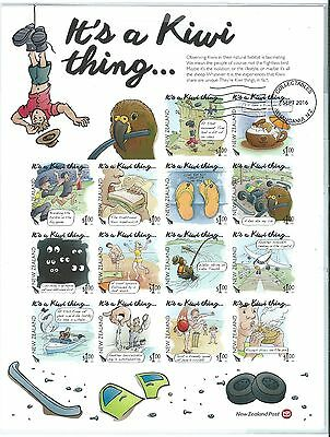 "New Zealand 2016 ""it's A Kiwi Thing"" Imperforate Sheetlet Of 14 Fine Used"