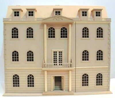 Downton Manor 1:12 Scale Grand Dolls House Kit Flat Pack Unpainted Wooden MDF