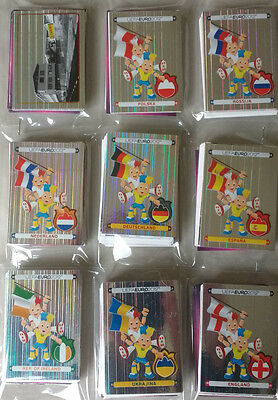 Panini Euro 2012 Complete Sticker Set 1-539 + Pss In Protective Sleeves