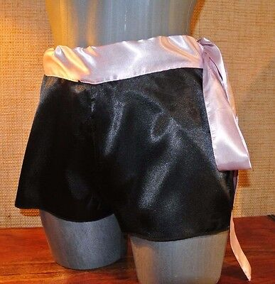 Culotte Shorty Satin Coquine Dentelle Sissy Cd Knicker Panty Pantie !736