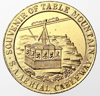 1929 Table Mountain Cableway Opening Souvenir Medal ~ South Africa