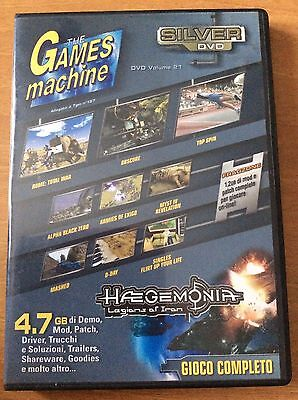 THE GAMES MACHINE SILVER DVD gioco completo per PC HAEGEMONIA e altro..