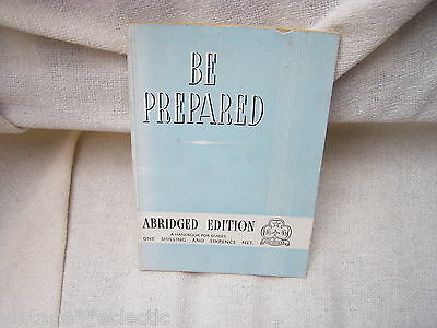 BE PREPARED ABRIDGED 1959 EDITION HANDBOOK for GIRL GUIDES ~ VINTAGE 1950s