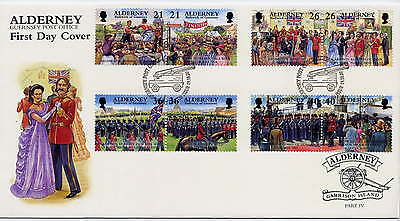 ALDERNEY 2000 GARRISON ISLAND EVENTS SET on FIRST DAY COVER
