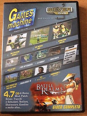 THE GAMES MACHINE SILVER DVD gioco completo per PC BATTLE REALMS e altro..
