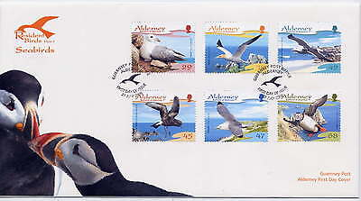 ALDERNEY 2006 RESIDENT BIRDS SEABIRDS SET on FIRST DAY COVER