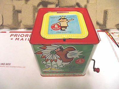 Vintage Mattel Inc Toymakers Superchief IN THE Music Box JACK 1963 INDIAN CHIEF