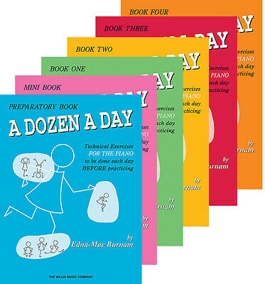 A Dozen A Day - Dialy Piano Lesson Exercises - Complete 6 Book Pack - 20% Off!