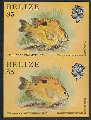 Belize (1745) - 1984 Marine Life $5 IMPERF PAIR unmounted mint