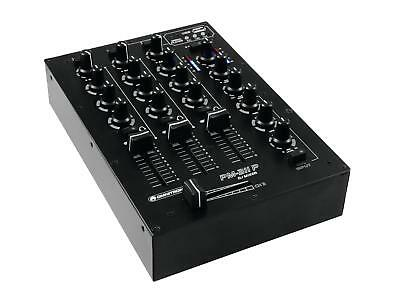 Omnitronic Pm-311P Dj-Mixer Mit Player 3-Kanal Mischer Mp3 Player Usb Stereo Led