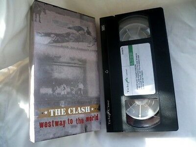 Rare The Clash Westway to the World  VHS Tape Release Date 1/11/99