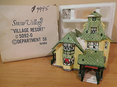 Dept 56 Snow Village - Village Resort Lodge - 1987
