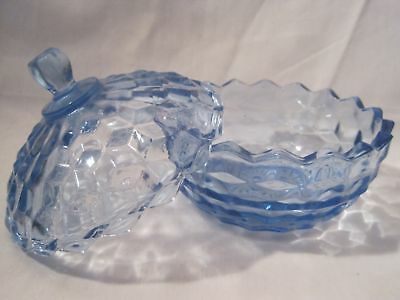 Blue Indiana American Whitehall Covered Candy Dish Bowl