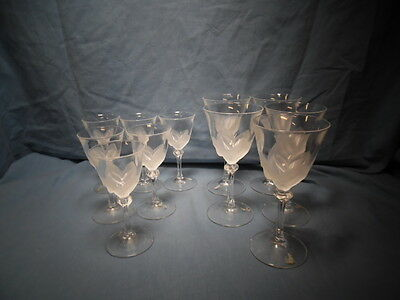 """JG Durand-FLORENCE- LOT OF 11 Wine Glasses 5 3/4"""" and 4 3/4"""""""