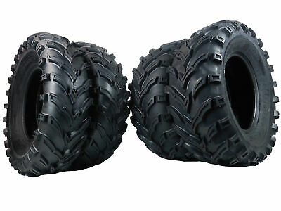(4) New MASSFX MS ATV Tires (2) 25x10-12 & (2) 25x8-12 6 Ply Tire Set Front rear