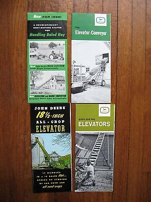 Lot of 4 John Deere Elevator brochures