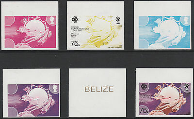 Belize (1761) - 1983 Communications 75c PROGRESSIVE PROOFS unmounted mint