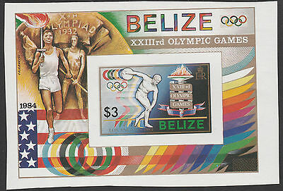 Belize (1767) - 1984 OLYMPICS IMPERF m/sheet unmounted mint