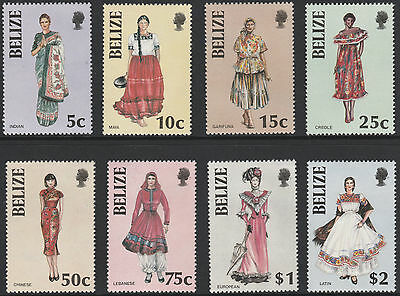 Belize (1774 - 1986 COSTUMES set of 8 unmounted mint