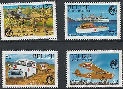 Belize (177)1 - 1988 RED CROSS set of 4 unmounted mint