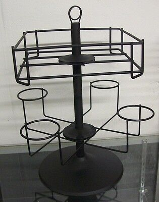 Store Display Fixtures 2 LEVEL SPORTS ACCESSORY COUNTER TOP SPINNER RACK