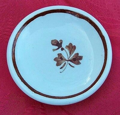 Alfred Meakin - Tea Leaf - Antique Ironstone Butter Pat - Round