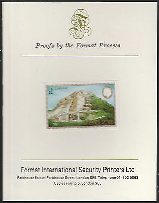 Belize (1787) - 1983 Maya Monument $2 imperf Format International PROOF  CARD