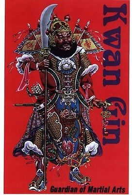 Chinese General Kwan Gin God of Martial Arts Display Wall Plaque 11x17 wealth