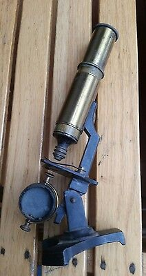 Antique brass microscope small 19th century