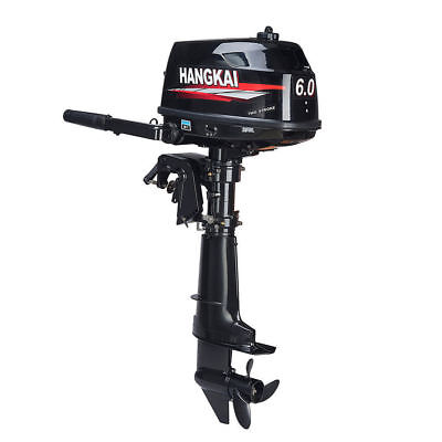 Hangkai Water Cooled 2 Stroke 6HP Outboard Motor Petrol Powered Engine