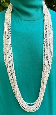 Hawaiian 100% Niihau Shells 12-Strand 50 Inch Rice (Laiki) Collector's Lei
