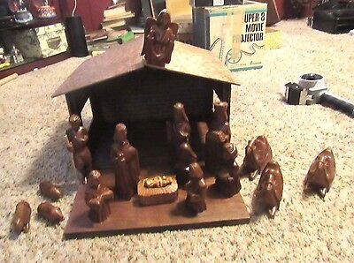 Carved Wood  Phillipines Nativity Set