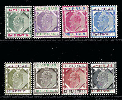 Cyprus Stamps 1902-1904 1/2pi-18pi KEVII Selection Mint £380/$470