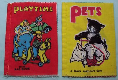 Vintage Deans Rag Cloth  Book x 2 PlayTime  & Pets  England Josephine Wilkinson