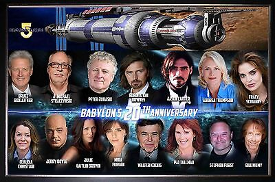 Babylon 5 TV Show SILK Canvas Poster LARGE 32x48 inch (81x122cm) 20th Anniv