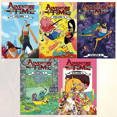 Adventure Time Series Vol (5 to 9) Collection 5 Books Set, New Pack Paperback