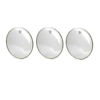 "3X Sehr Tolle Drumfelle Mit Remo 12"", 13"", 16""ambassador Clear Fell Set"