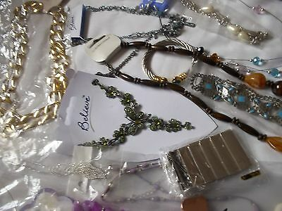 40 + Mixed Items New Costume Jewellery. Necklaces, Bracelets & Earrings.