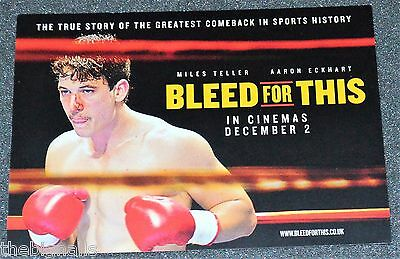 Miles Teller Promo Postcard BLEED FOR THIS new