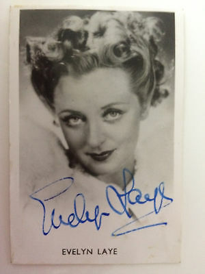 Original  Hand Signed Autograph - Evelyn Laye - Actress