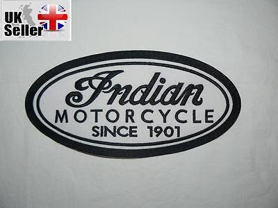 Indian  Large Iron on/ Sew on Patch Biker Motorcycle
