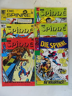 6 x Die Spinne - Nr.225,246,247,248,251,253 - Hit Comics - bsv - Z. 3/3-