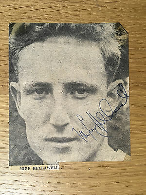 Rare Mike Hellawell signed picture Birmingham Sunderland & England autograph