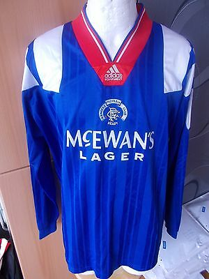 Adidas Glasgow Rangers Scotland Player Issue Vintage Shirt Jersey Rare Football